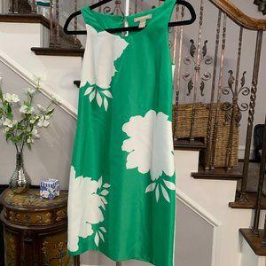 Banana Republic Green White Floral Shift Dress